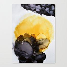 Black & Yellow Smoked Canvas Print