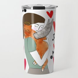 The love of a cat is so special Travel Mug