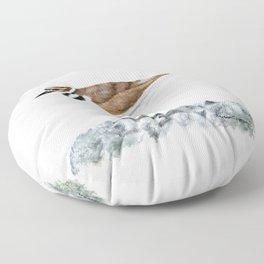 Killdeer Art 1 by Teresa Thompson Floor Pillow