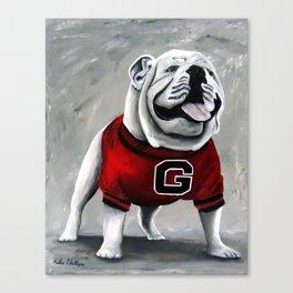 UGA Georgia Bulldogs Mascot Canvas Print