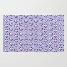purple pixel hearts Rug