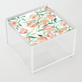 Watercolor Peaches Acrylic Box