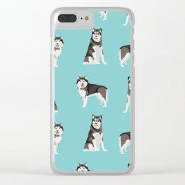 Alaskan malamute  dog breed pet lover malamute gifts Clear iPhone Case