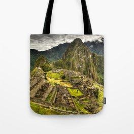 Machu Picchu in Hi-Res HDR landscape photo Tote Bag