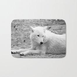 arctic wolf Bath Mat