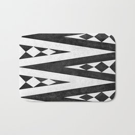Tribal pattern in black and white. Bath Mat