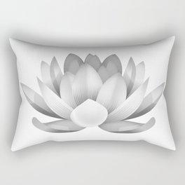 black and white lotus Rectangular Pillow