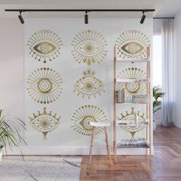 Evil Eyes – Gold Palette Wall Mural