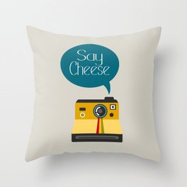 Say Cheese Throw Pillow