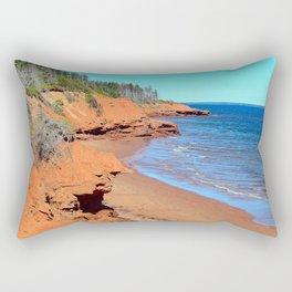 Red Cliffs of PEI Rectangular Pillow