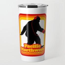 Retro Sasquatch Pacific Northwest Travel Mug