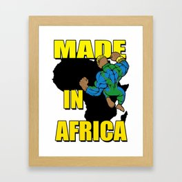 MADE IN AFRICA Framed Art Print