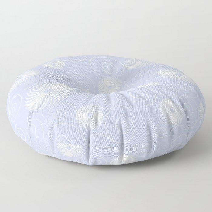 White Spirals Floor Pillow