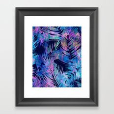 Waikiki Tropic {Blue} Framed Art Print