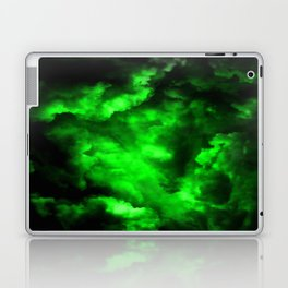 Envy - Abstract In Black And Neon Green Laptop & iPad Skin