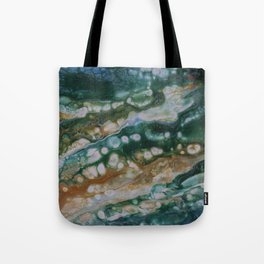 Viridian Lagoon Tote Bag
