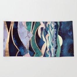 Moonlit Ocean Beach Towel