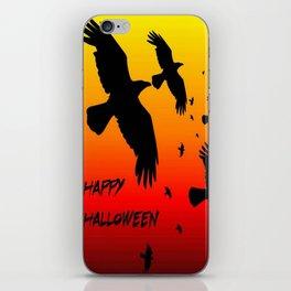 Happy Halloween Murder of Crows  iPhone Skin