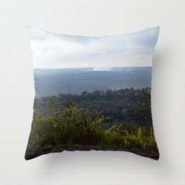 Volcanic island Hawaii Throw Pillow