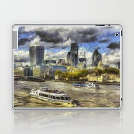 The River Thames And City Art Laptop & iPad Skin