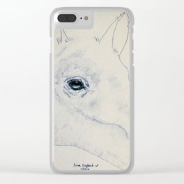 Absract Horse Clear iPhone Case