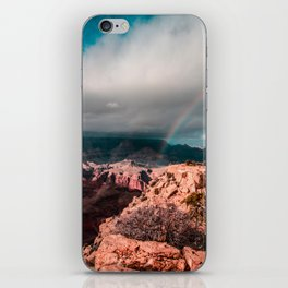 Rainbow over the Canyon iPhone Skin