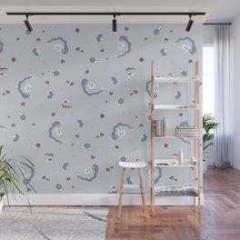 Snow boy pattern Wall Mural