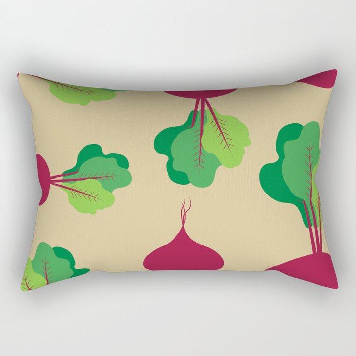 Beets in Tan Rectangular Pillow