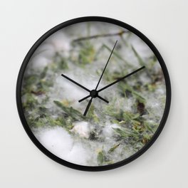 Cotton or snow Wall Clock