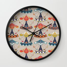 carousel damask Wall Clock