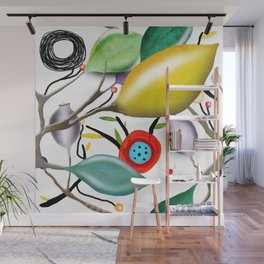 Cinque Terre - Lemons Lemon - Italian Riviera - Limoni Lemon Pattern Home Decor Wall Mural