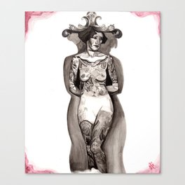 tattooed lady Canvas Print