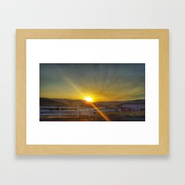 Sunrise on September 7th Framed Art Print