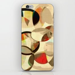 Mod art, circle art, Mid Century Modern iPhone Skin