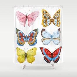 Butterflies 01 Shower Curtain