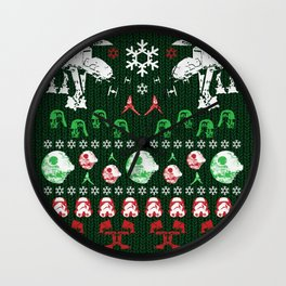 Ugly Christmas Sweater Win - Star Wars Empire style Wall Clock
