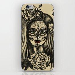 Dead of Dead Girl Sugar Skull Girl iPhone Skin