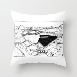 Human Landscape/Paysage Humain Throw Pillow