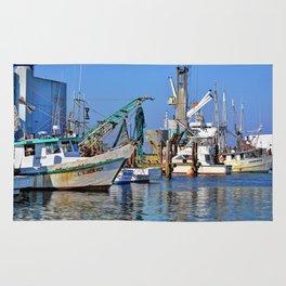 Galveston Fishing Boats Rug