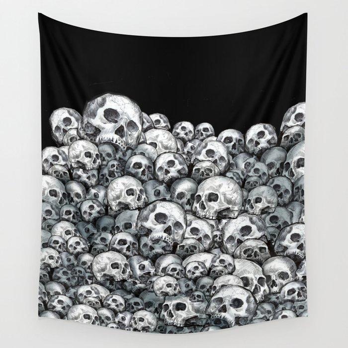 Skull Pattern Wall Tapestry