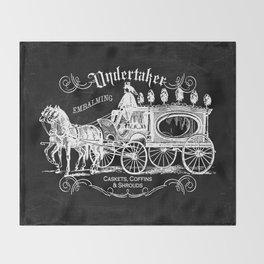 Gothic Undertaker Throw Blanket