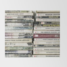 louis l'amour paperbacks Throw Blanket