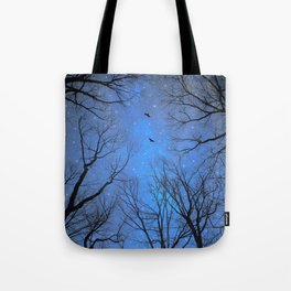 A Certain Darkness Is Needed (Night Trees Silhouette) Tote Bag