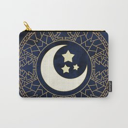 MANDALA MOON AND STARS Carry-All Pouch