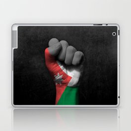 Jordanian Flag on a Raised Clenched Fist Laptop & iPad Skin