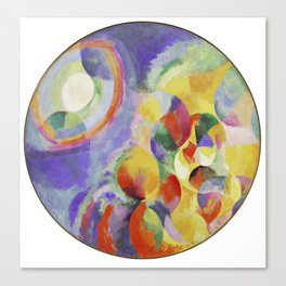 "Robert Delaunay ""Simultaneous contrasts sun and moon"" Canvas Print"