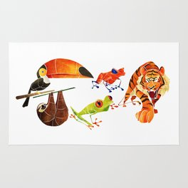 Rainforest animals 2 Rug