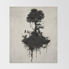 Last Tree Standing Throw Blanket