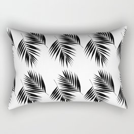 Palm Leaves Pattern #12 #Black #White #decor #art #society6 Rectangular Pillow