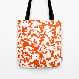 Spots - White and Dark Orange Tote Bag